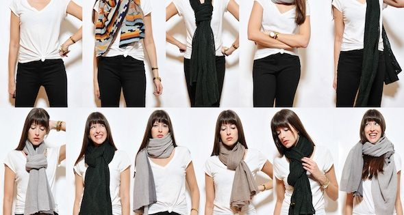 Diff rentes fa ons de porter une charpe charpes - Differentes facons de porter un foulard ...