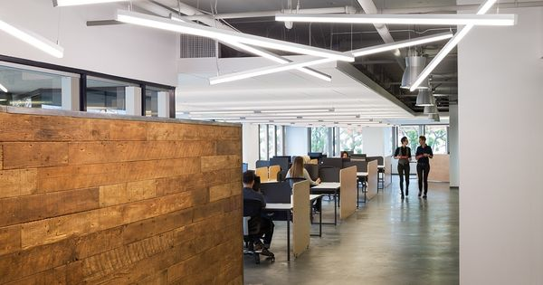 Inside Fuhu S Stylish Los Angeles Office Commercial Interiors Education Architecture Office Interiors