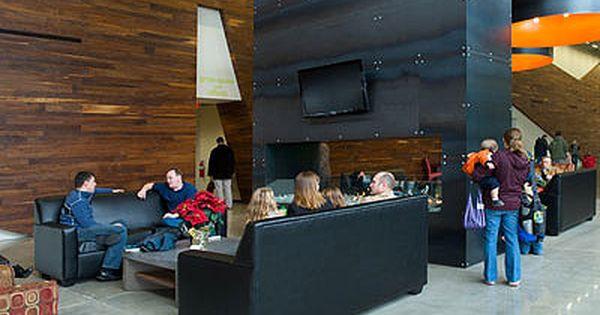 Office lobby design reclaimed wood Interior Ecodesign