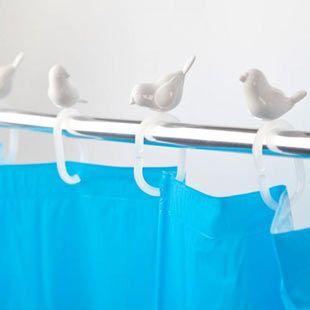 Peeking Bird Shower Curtain Hooks Bird Shower Curtain Shower