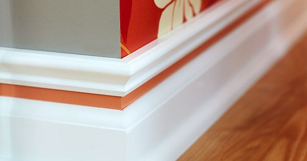 Baseboard with color strip great idea to add color to for Cost to paint baseboard