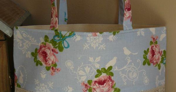 Bolsa De Juta E Tecido : Bolsa de juta bolsas e sacolas