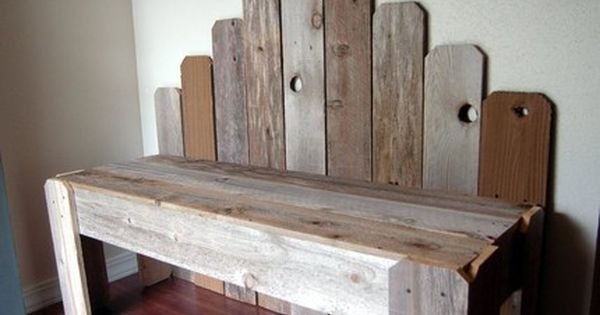 Barn board bench