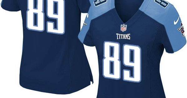 women nike tennessee titans 89 jared cook elite navy blue alternate nfl jersey