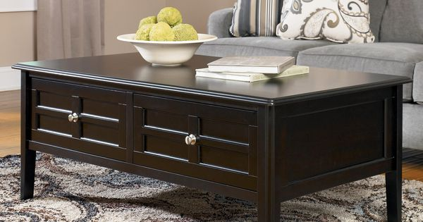 Henning Large Rectangular Cocktail Table With 2 Drawers By Signature Design By Ashley Drawers