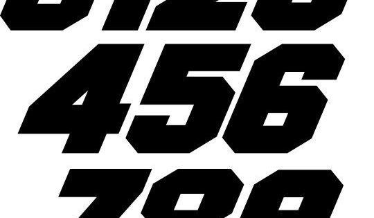 custom mx number plate decals motocross atv bmx trial go kart snowmobile racing in ebay motors
