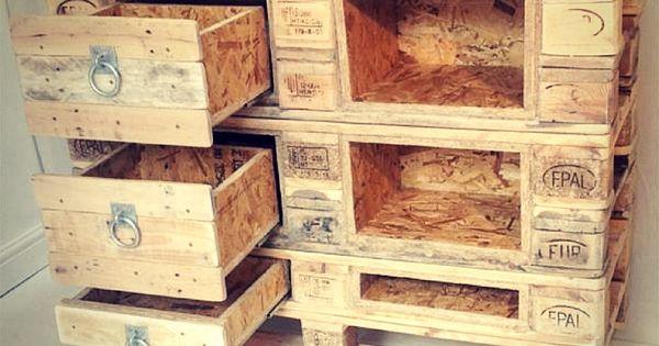 diy pallet chest with drawers pallet made dresser. Black Bedroom Furniture Sets. Home Design Ideas