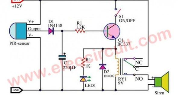 Security Motion Detector Wiring Diagram Di 2020 Pir Wwe