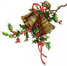 Vintage Christmas Clip Art Google Search Christmas Bells Modern Christmas Cards Christmas Music Box