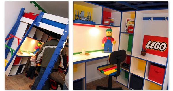 Lego loft bed with storage simple and lego without being overwhelming for the home - The home in the loft space without borders ...
