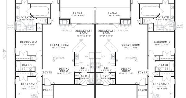 First Floor Plan Of Multi-Family Plan 62364 Here, Mom