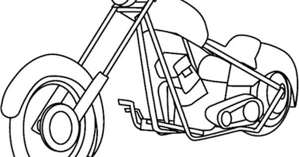 Aneka Gambar Mewarnai Gambar Mewarnai Sepeda Motor Untuk Anak