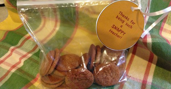 Ideas, Thank you gifts and Ginger snaps on Pinterest