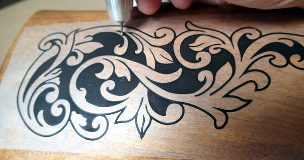 Wood releif carving custom engraving power carver