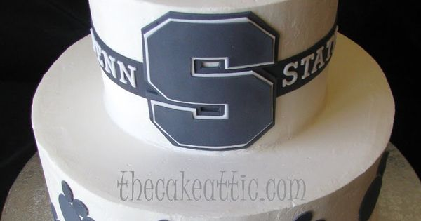 Penn State Wedding Gifts: Groom's Cake For A Penn State Alumnus. Buttercream Cake