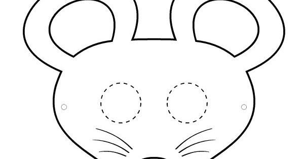 Masque souris noir et blanc masque pinterest masque - Masque chauve souris a imprimer ...
