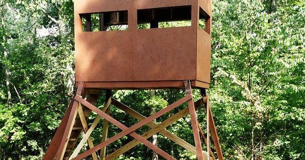 9 free diy deer stand plans outdoor deer and deer stand for Free tree stand