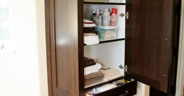 Tall Bathroom Cabinet Bath Pinterest Sinks Vanities