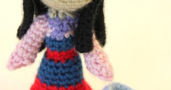 Designer Crochet Amigurumi Patterns Merida Warrior Princess : Disney Princess Amigurumi (Crochet) Patterns, plus others ...