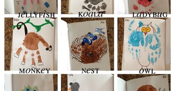 Animal Handprint ABC's and other Handprint and Footprint Art