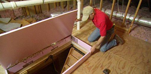Diy Fold Down Attic Stair Insulation Today S Homeowner Attic Stair Insulation Attic Staircase Attic Storage