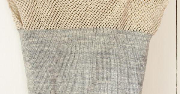Laura's Loop: Cap Sleeve Lattice Top - The Purl Bee - Knitting