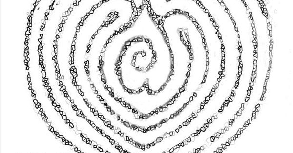 heart path labyrinth  modify for prayer and labyrinths