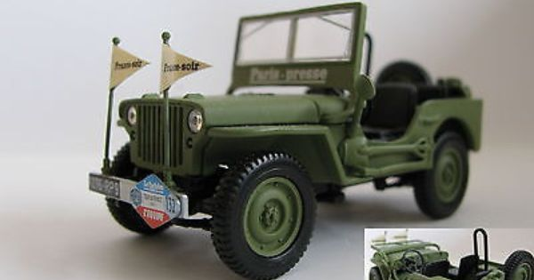 1 43 Norev Jeep Willys Tour De France 1951 Diecast