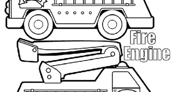 fire engine box coloring page