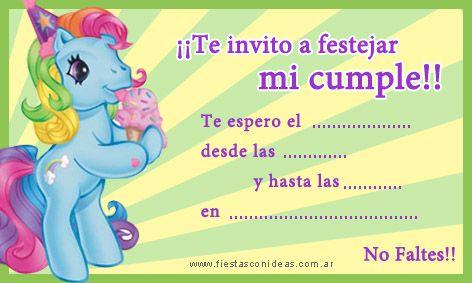Cumpleaños My Little Pony Ideas Buscar Con Google