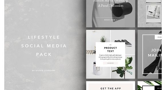 Lifestyle Social Media Pack – ideal for bloggers, fashion brands, lifestyle brands