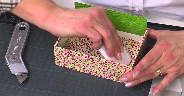 Throw Pillows Divisoria : Porta cartao em cartonagem com papel...interessante a tecnica... Cartonagem Pinterest Box ...