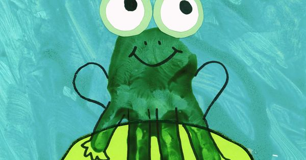 Handprint Frog Hand Pictures Pinterest Frogs Craft