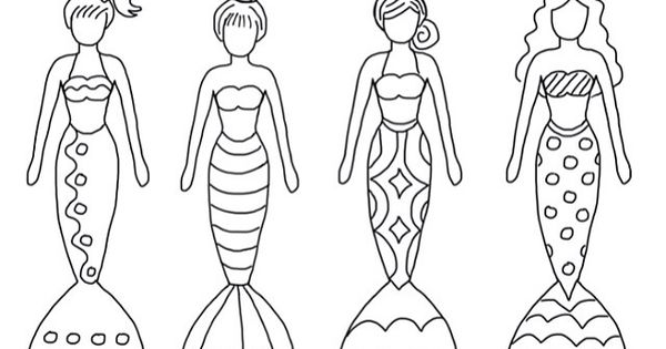 Fin fun coloring pages ~ Color sheet mermaids | Printables | Pinterest | Color ...