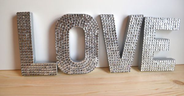 Sequin letters. A potential DIY for the bride and groom chairs?