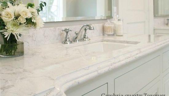 Best Cambria Quartz Bathroom Countertop Looks Like Carrara 640 x 480