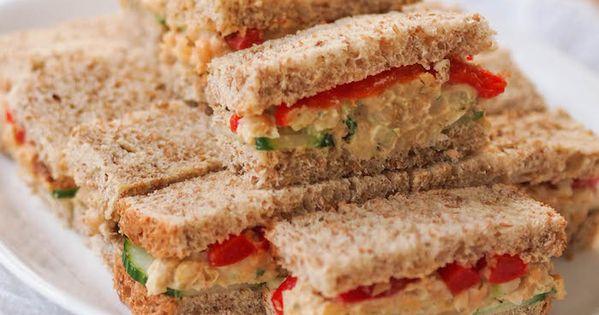 Hummus Chickpea Snack Sandwiches | Recipe | Celery, Whole grain bread ...