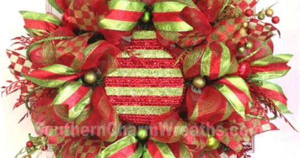 deco mesh christmas decorations | Deco Mesh Wreath | Christmas Craft/Ideas