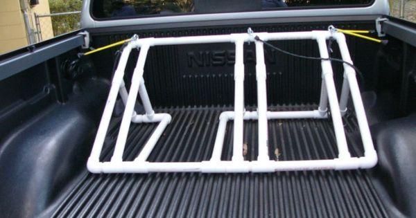 Great Idea Back Of Truck Bike Rack Pvc Creations