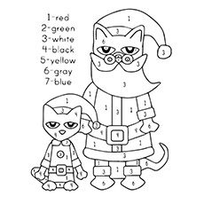 Top 21 Free Printable Pete The Cat Coloring Pages Online Christmas Kindergarten Pete The Cat Christmas Coloring Pages