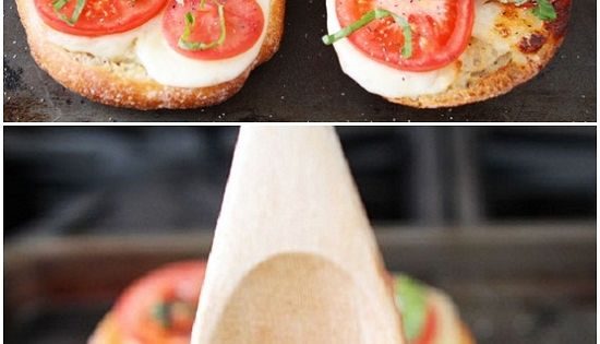 Caprese Garlic Bread - 1 loaf ciabatta bread, horizontally cut in half