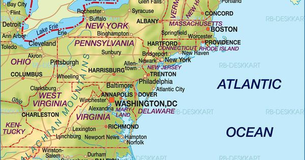Map Of East Coast Map Of East Coast Usa United States Map In The Atlas Of The World