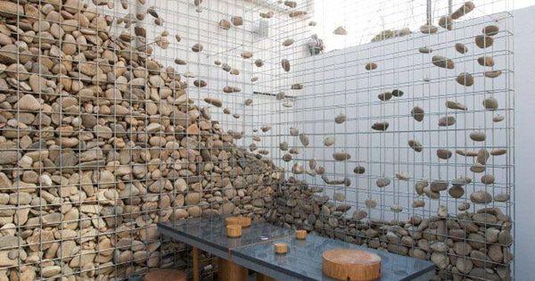 Beautiful Art Stone Gabion Wall By Design Bono Seoul Jpg