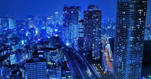 Tokyo City At Night Japan Hd Wallpaper 1080p 1920x1080 Cityscape Wallpaper City Wallpaper Skyscraper