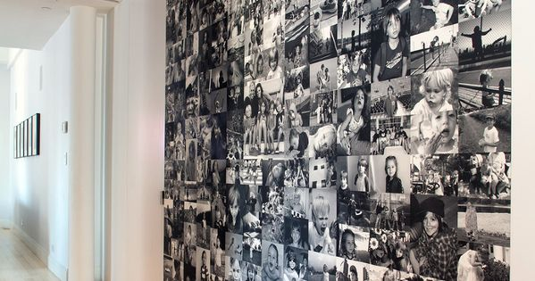 a black and white photo wall. Dream house