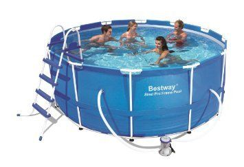 Bestway 12 Foot By 30 Inch Steel Pro Round Frame Pool Set Endurro The Best Kids Indoor Outdoor Playsets Best Above Ground Pool Pool Playset Outdoor