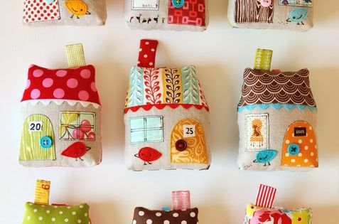 fabric house ornament tutorial DIY crafts sewing applique