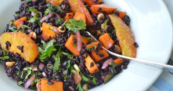 Black Rice Salad with Mango and Peanuts | clean healthy recipes ...