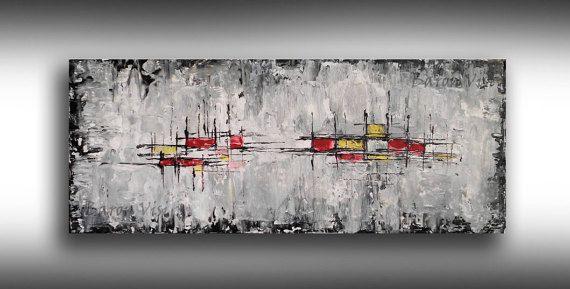 schwarz weiss wand kunst abstrakte malerei acryl impasto etsy abstrakt glasbilder bekannte künstler