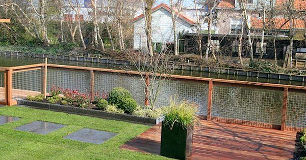 Tuin aan het water tuin idee pinterest water tuin en tuin idee n - Overdekt terras tegel ...